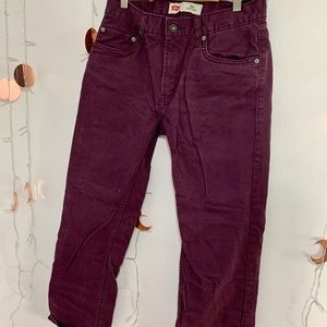 Levi's Maroon 505 Straight Jeans